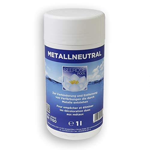 Paradies Pool Seerose Metallneutralisator 1 l flüssig Oxydation Rost Ausfällung Metall Ablagerungen