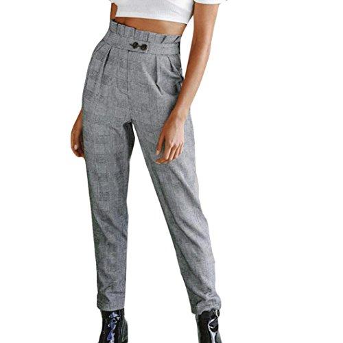 Vectry Damen Sporthosen Jogginghose Slim Skinny Jeans Loose Designer Chino Boyfriend Latzhosen Yoga Relaxed Jazz Weite Beinhosen Jogger Pants, Knopf...