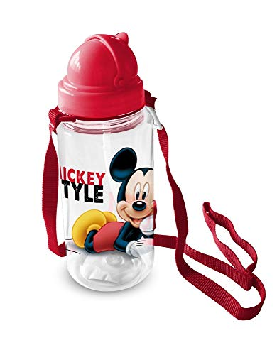 Star Licensing Borraccia Mickey Mouse Topolino con Cannuccia con Tappo E Tracolla ML. 450 - 59714