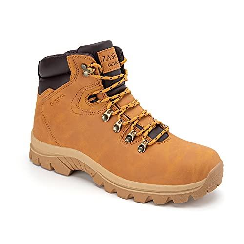 Men's Hiking Boots Anti-Slip Mid Top Lightweight Water Resistant Outdoor Boot wide Trekking Hiker Work Shoes
