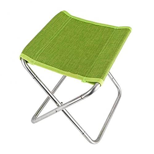 Taburete plegable al aire libre, ligero, portátil, plegable, para camping, picnic, pesca, silla de playa, muebles al aire libre (color verde) ZZ666 (color: verde)