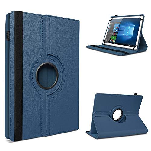 UC-Express Tablet Schutzhülle für 10-10.1 Zoll Tasche aus hochwertigem Kunstleder Hülle Standfunktion 360° Drehbar Universal Hülle Cover, Farben:Blau, Tablet Modell für:ODYS Neo Quad 10