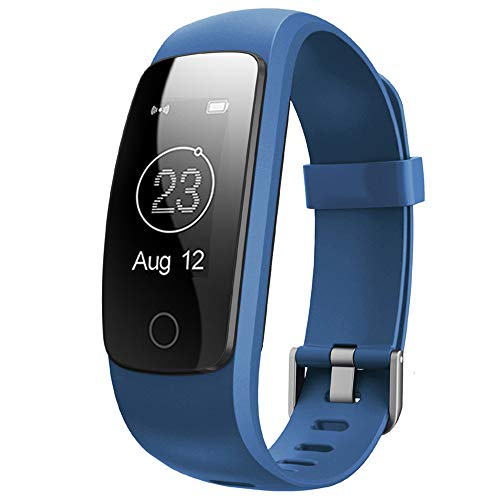 Fitness Tracker with Heart Rate Monitor,Willful Fitness Watch Activity Tracker IP67 Waterproof Slim Smart Band with Step Calorie Counter 14 Sports Mode Sleep Monitor,Pedometer for Kids Women Men (BL2)