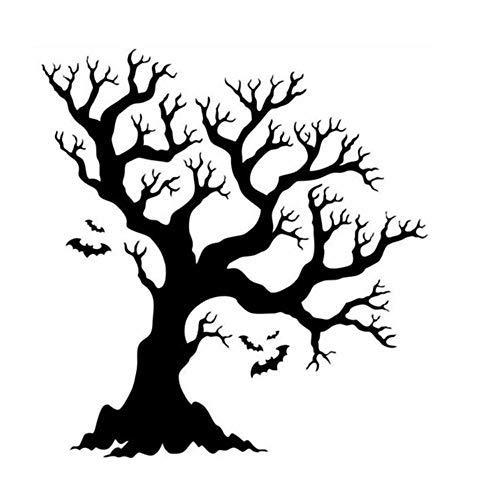 XINAINI Zuhause Wanddekoration,DIY Dekorativ Kunst Wandaufkleber,Baum Wandaufkleber FüR Kinderzimmer Dekoration,Wohnzimmer Schlafzimmer BüRo Halloween Wandbilder
