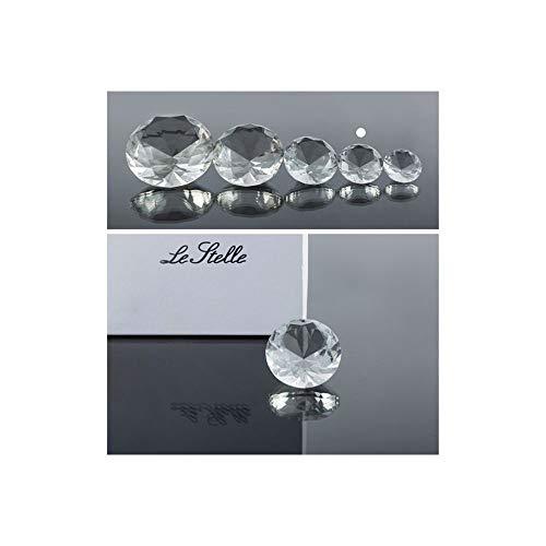 Super oferta 3 unidades diamante cristal de 5 cm en caja regalo bombonera