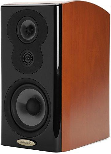Polk Audio LSiM 703 Flagship Bookshelf Speaker | Dynamic Balance & PowerPort Technology | Bi-Wire & Bi-Amp | Single, Mount Vernon Cherry