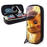 Trousse Pokémon Detective Pikachu en cuir pour bureau, université, université, université, femme, homme, papeterie vintage en cuir