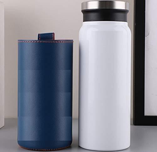 SMX beste roestvrij stalen thermosfles - nieuwe driedubbele muur geïsoleerd - BPA-vrij - hete koffie of koude thee + drinkbeker Top - perfect voor kantoor