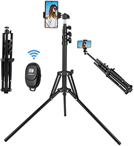 Selfie Stick Tripod 63 inch Extendable Selfie Stick with Bluetooth Remote for iPhone Android product image