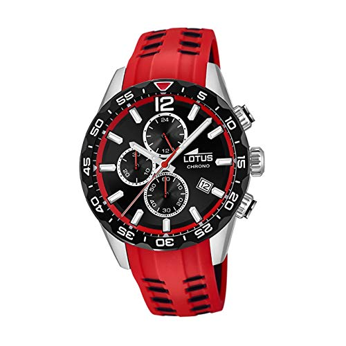 Lotus Herren Analog Quarz Uhr mit Kautschuk Armband 18590/3