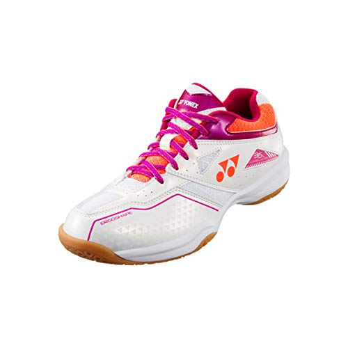 Yonex Power Cushion Women - Zapatillas deportivas para mujer, color blanco y rosa, (blanco rosa), 39 EU