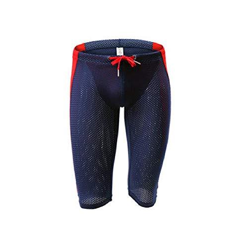 U/A Multi Respirant Mesh Homme Stretch Fitness Shorts Collants d'entraînement Pantalon de Cyclisme Short Lumineux - Bleu - L