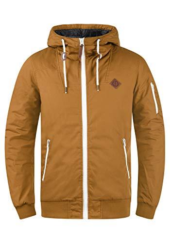 !Solid Tilly Herren Übergangsjacke Herrenjacke Jacke gefüttert mit Kapuze, Größe:L, Farbe:Cinnamon (5056)
