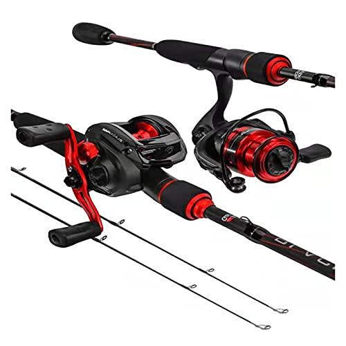 BTMING Asta da Pesca da Pesca in Carbonio Ultra-Leggero 1.8m 2.1m 2.4m 2.7m Baitcasting Asta M Spinning Lure Pole Jigging Rod Inchiku Pesca (Colore : Spinning Rod, Length : 1.8 m)