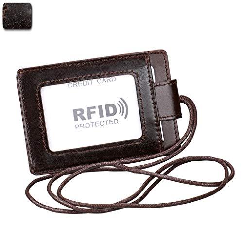 qingqingR RFID Porta Carte di Credito Porta Carte di Credito Porta Carte di Credito in Vera Pelle RFID Lany