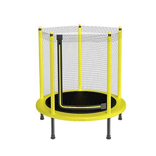 GOAIJFEN Indoor Kids Trampoline Met 100 Cm Veiligheid Enclosure, Veilige Baby Trampoline Peuter Trampoline, Geschikt voor Kinderen leeftijd 1-7