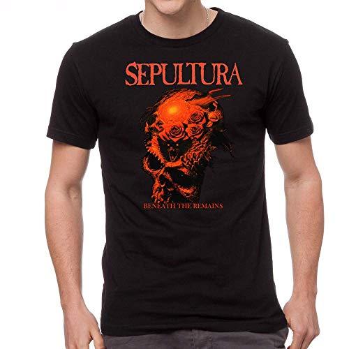 Sepultura Beneath The Remains Men's Rock Band T-Shirt Short Sleeve Shirt