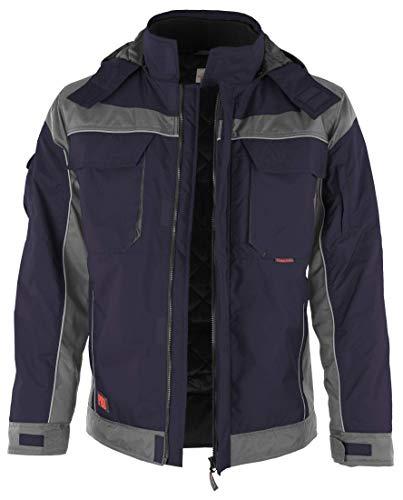 Qualitex - Giacca invernale da lavoro con chiusura touch, colori assortiti blu navy/grigio. 75