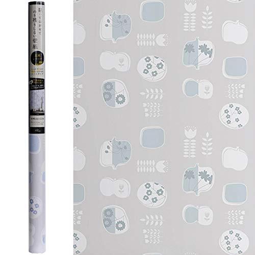 賃貸OKなかんたん壁紙 貼ってはがせる のり残りしない 北欧風 イラスト 温かみ シールタイプ おしゃれ かわいい お部屋 子供部屋 リフォーム イメチェン リメイク 日本製 90cm×2.5m