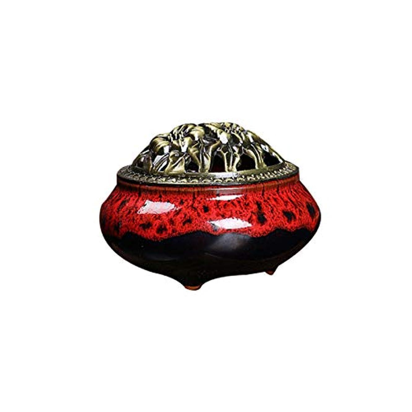 一般化するプレゼントコスチュームセラミック 家庭用 アロマセラピー 炉 氷 クラッキング 窯 アロマセラピー 炉 フレグランス コーン コイル 香炉 真鍮 ひょうたん 香炉
