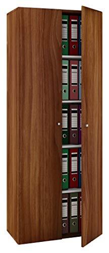 VCM Schrank Universal Kleiderschrank Mehrzweckschrank Dielenschrank Flur Möbel kern-nussbaum 178 x 70 x 40 cm