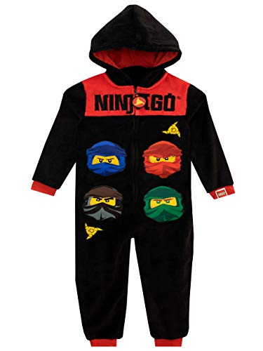 LEGO Jungen Schlafoveralls Ninjago Schwarz 158