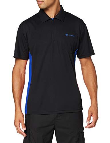 Target Darts Coolplay Hybrid Pro Darts Shirt Schwarz mit Blau 4XL