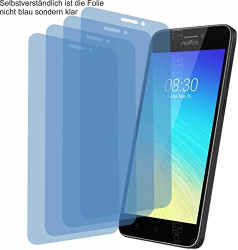 4ProTec I 4X Crystal Clear klar Schutzfolie für TP-Link Neffos Y5s Bildschirmschutzfolie Displayschutzfolie Schutzhülle Bildschirmschutz Bildschirmfolie Folie