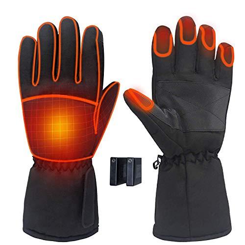 Guantes térmicos, de invierno, calientes, eléctricos, para hombres y mujeres, impermeables y...