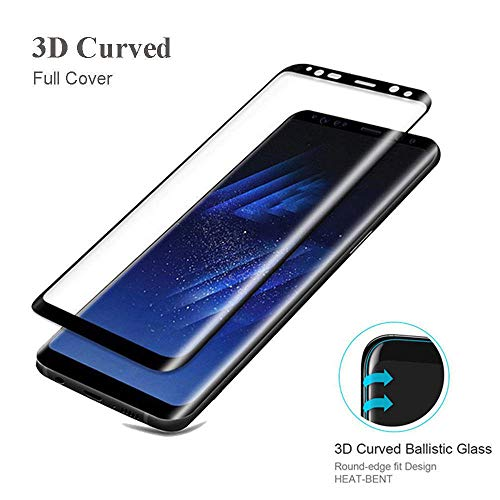 3 Piezas Cristal Templado para Samsung Galaxy S10 Plus S10E S9 S8 Plus Nota 8 9 S7 Edge S6 Edge 3D Redondo Curvo Pantalla de Portada Completa@para S10 Plus_Claro
