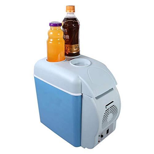 GUOCAO Frigorífico de coche de 12 V, refrigerador, congelador, 7,5 L, portátil, compacto, para viajes, camping, CC, 12 V, refrigerador por debajo de 15 – 20 ℃, sin hielo, 31 × 16,5 × 30 cm