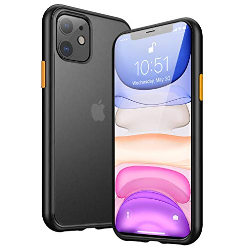 "Benks Funda iPhone XR (6,1""), Enchapado Funda Slim Fit Protectora Flexible y Ligera [con Soporte de Carga Inalámbrica] [Ultra Fina] y Material TPU Transparente para Apple iPhone XR (2018) - Negro"