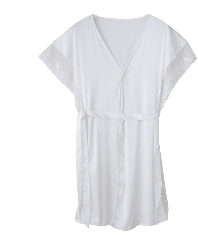 KYWBD Women's Thin Bathrobe,Sexy Fun Temptation Pajamas