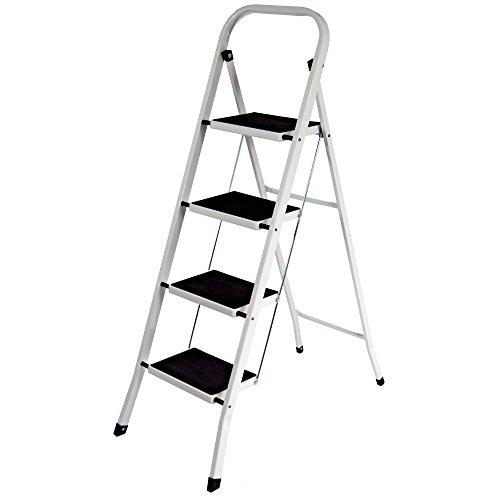 Home Vida 4-Step Steel Portable Folding Heavy Duty Ladder - Multi-Colour
