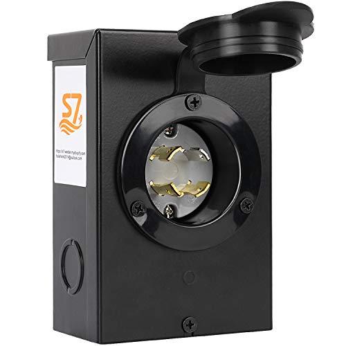 Generators Up to 7,500 Running Watts S7 30-Amp NEMA 3R Power Inlet Box, Black
