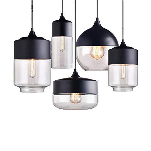 RTYUI Nordic Modern Loft Hanging/Glass Pendant Lamp, Fixtures E27 E26 LED Pendant Lights/for Kitchen/Restaurant/Bar/Living Room/Bedroom,A