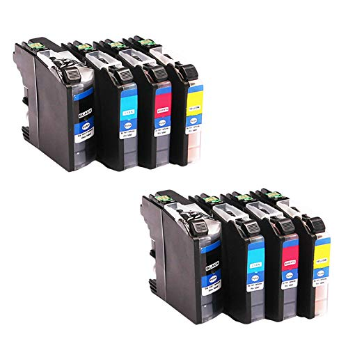 LC990 - Cartuchos de tinta de repuesto para Brother MFC-250C 255CW 290C 295CN 490CW DCP-145C 165C, cartuchos de impresora de inyección de tinta de alto rendimiento compatibles (4 paquetes)