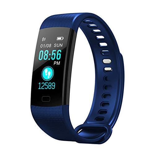 Redcolourful Smart Watch Fitness Armband Hartslag of IP67 Waterdichte Kleur Scherm Sport er Horloge, Eén maat, Blauw
