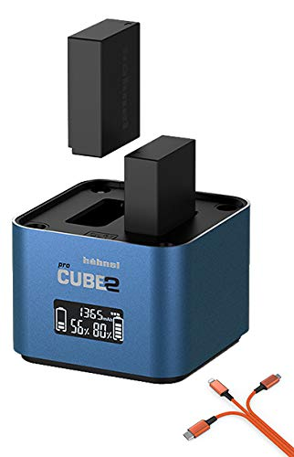 Hähnel ProCube 2 Doppel-Ladegerät kompatibel mit Panasonic DMW-BLC12 / DMW-BLF19 / DMW-BLG10 / DMW-BLJ31