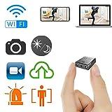 Rettru Smallest WiFi Spy Cameras Hidden,Mini Indoor HD Wireless Camcorder IP P2P Covert