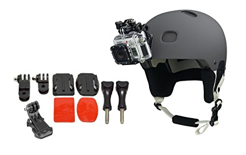 ProGear Helmet Front Mount Bundle With Adhesive Pads For GoPro Hero 4/3+/3/2/1