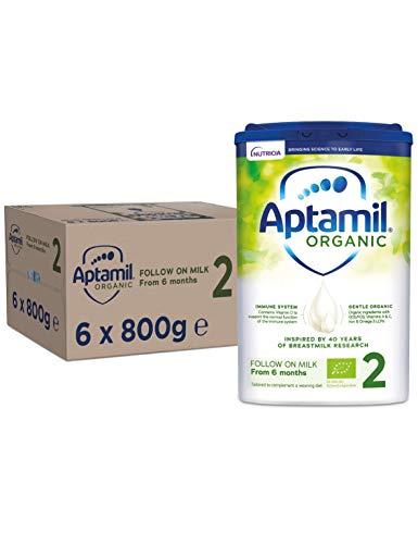 Aptamil Organic 2 Follow On Baby Milk Formula Multipack, 800 g (Pack of 6)