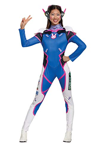 Overwatch Womens D.Va Deluxe Costume Medium Blue