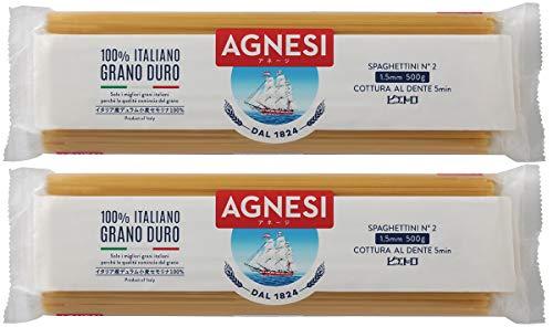 ピエトロ AGNESI (アネージ) スパゲティ 1.5mm 2個セット (500g×2)
