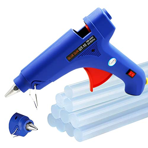 Hot Melt Glue Gun - 100W Upgraded Version Hot Glue Gun, Hot Glue Gun with 10Pcs Glue Sticks, Glue Gun Kit for DIY Small Craft Projects, Car Dent Repair, Home Decoration and Office Workshop