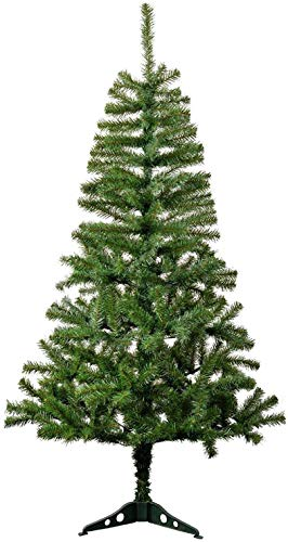 AQS INTERNATIONAL Luxury 4ft Pine Colorado Spruce Artificial Christmas Trees Plastic Stand Bushy High Tip Count Xmas Trees (4ft / 120cm Green)