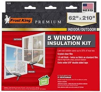 FROST KING V85M Window Insulation Kit Heavy-Duty XL 62 x 210-In - Quantity 6