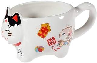 lachineuse Tasse Japonaise Maneki Neko - Le Chat Japonais du Bonheur
