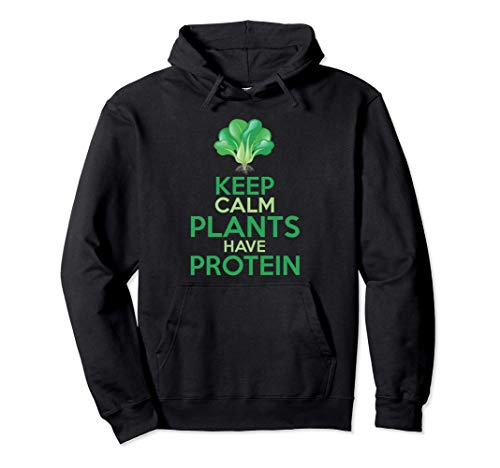 Divertido Brócoli Vegetariano Keep Calm Plants Have Protein Sudadera con Capucha