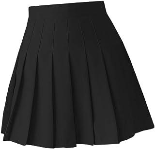 Generic Women Girls High Waisted Pleated Skirt Skater Tennis School Uniforms A-line Mini Skirt Cosplay Costumes Skirts wit...